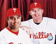 Placido Polanco and Jim Thome Philadelphia Phillies 8X10 Photo