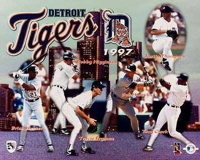 Detriot 1997 Tigers Team Composite 8X10 Photo