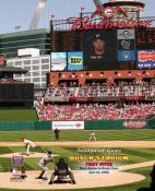 N2 Busch Stadium New Opening Day Cardinals 1st Pitch 8X10