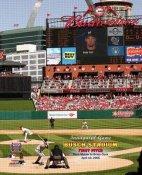 N2 Busch Stadium New Opening Day Cardinals 1st Pitch 8X10