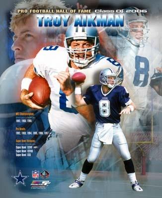 Troy Aikman HOF Composite Cowboys 8X10 Photo