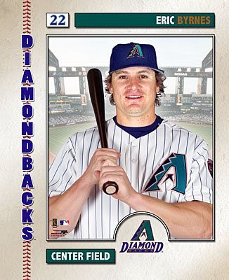 Eric Byrnes 2006 Studio LIMITED STOCK AZ Diamondbacks 8X10