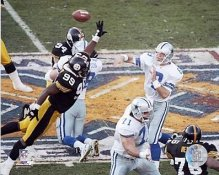 Troy Aikman Levon Kirkland Steelers Cowboys SB30 8x10 Photo
