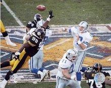 Troy Aikman Levon Kirkland Steelers Cowboys SB30 8x10 Photo LIMITED STOCK
