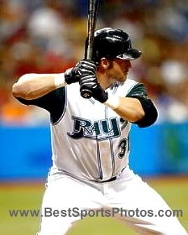 Jonny Gomes Tampa Bay Devil Rays 8X10 Photo