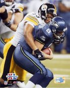 Clark Haggans Super Bowl 40 XL Steelers 8x10 Photo