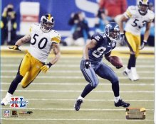 Larry Foote Super Bowl 40 XL Steelers 8x10 Photo   LIMITED STOCK