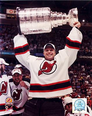 Martin Brodeur w/ Cup 2003 Stanley Cup Champs New Jersey Devils 8x10 Photo