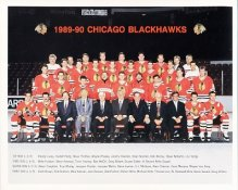 Chicago 1989-90 Blackhawks Limited & Rare 8x10 Photo