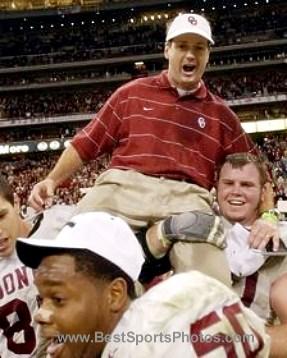 Bob Stoops Coach Oklahoma Sooners 8X10 Photo