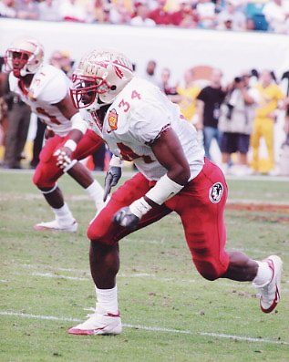Ernie Sims Florida State 8X10 Photo