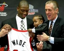 Dwyane Wade Pat Riley LIMITED STOCK Miami Heat 8X10 Photo