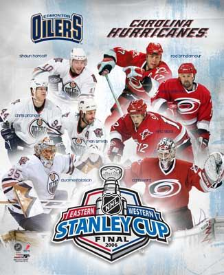 Carolina 2006 Hurricanes vs. Oliers Stanley Cup LIMITED STOCK 8x10 Photo