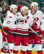 Rod Brind'Amour Corey Stillman Eric Staal LIMITED STOCK Cup Game 4 8x10 Photo