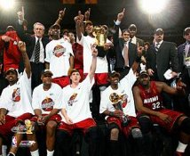 Miami 2006 Heat Team Celebration Champions 8X10 Photo LIMITED STOCK