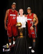 Dwyane Wade Shaq Pat Riley LIMITED STOCK 2006 Champs 8X10