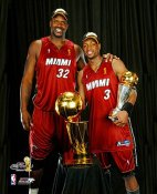 Shaq O'Neal Dwyane Wade LIMITED STOCK 2006 Champs 8X10 Photo