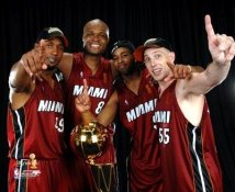 Shandon Anderson - Antoine Walker - Derek Anderson - Jason Williams - 2006 Champs Miami Heat 8X10 PhotoLIMITED STOCK