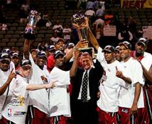 Miami 2006 Heat Team Celebration 2 Champions 8X10 Photo LIMITED STOCK