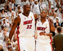 Dwyane Wade & Shaq O'Neal LIMITED STOCK Game 4/ 2006 Champs Heat 8X10 Photo