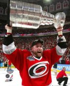 Aaron Ward with Stanley Cup 2006 Hurricanes 8x10 Photo