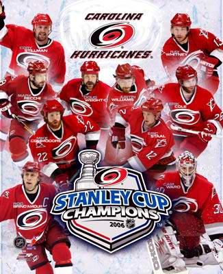 Carolina 2006 Stanley Cup Team Composite 8x10 Photo