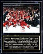 Carolina 2006 Hurricanes Stanley Cup Celebration 12x15 Plaque