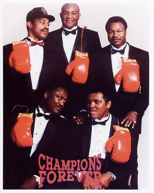 Muhammad Ali, George Foreman ,Joe Frazier Champs 8x10 Photo