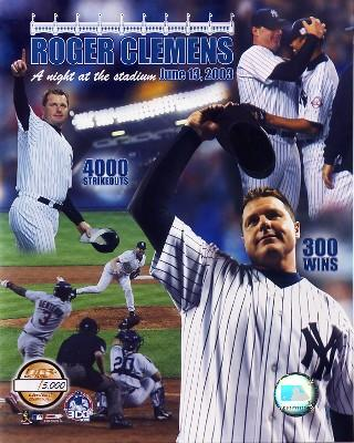 Roger Clemens 300th Win 4000K NY Limited Edition 8X10 Photo
