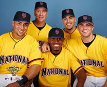David Wright Jose Reyes Tom Glavine Paul LoDuca Carlos Beltran 2006 Mets All-Stars LIMITED STOCK Photo
