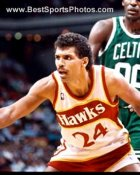Reggie Theus Atlanta Hawks 8X10 Photo LIMITED STOCK