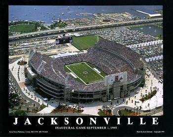 A1 Alltel Stadium Aerial Jacksonville Jaguars 8x10 Photo