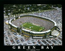 A1 Lambeau Field Old Aerial Green Bay Packer 8x10 Photo