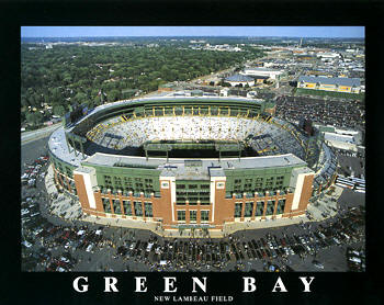 A1 Lambeau Field New Aerial Green Bay Packer 8x10 Photo