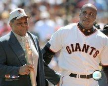 Barry Bonds Willie Mays 664 HR Giants 8X10 Photo