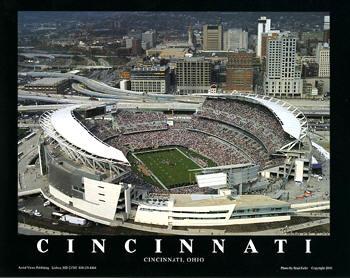 A1 Paul Brown Stadium Aerial Cincinnati Bengals 8x10 Photo