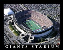 A1 Giants Stadium Aerial New York Giants 8x10 Photo