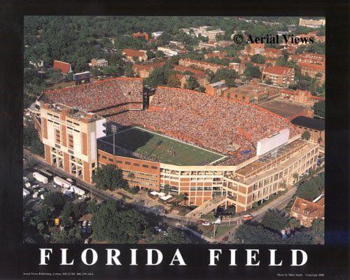 A1 Florida Field Aerial Florida Gators 8x10 Photo