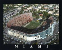 A1 Orange Bowl Aerial Miami Orange Bowl 8x10 Photo