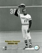 Roberto Clemente 3000th Hit SATIN 8X10 Photo