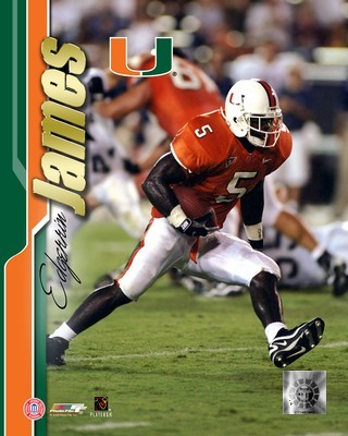 Edgerrin James Miami Hurricanes 8X10 Photo
