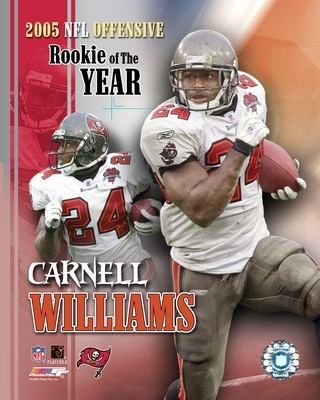 Cadillac Williams Carnell Williams ROY 2005 8x10 Photo  LIMITED STOCK