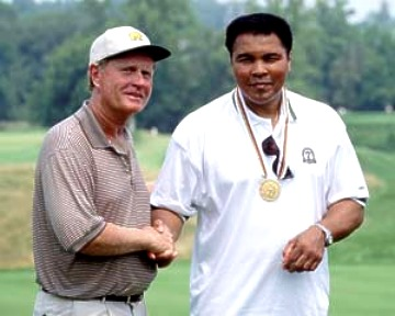 Jack Nicklaus Muhammad Ali 8X10 Photo