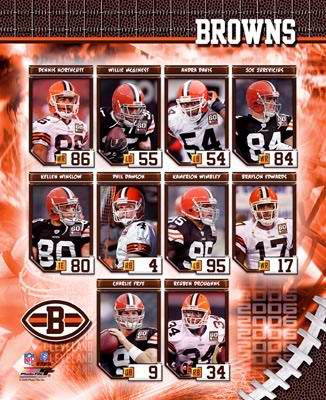 Cleveland 2006 Browns Team Composite 8X10 Photo