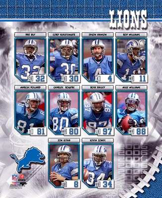 Detroit 2006 Lions Team Composite 8X10 Photo