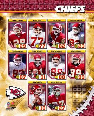 KC 2006 Chiefs Team Composite 8X10 Photo