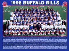Buffalo 1996 Bills Team Jim Kelly, Marv Levy, Bryce Paup, Elija Pitts, Thurman Thomas & Full Team 9x12 Photo