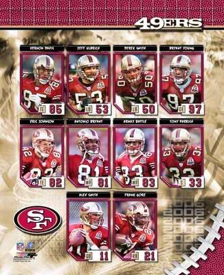 SF 2006 49ers Team Composite 8X10 Photo