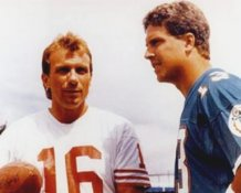 Joe Montana SF 49ers & Dan Marino Miami Dolphins 8X10 Photo