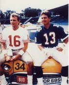 Joe Montana & Dan Marino 8X10 Photo